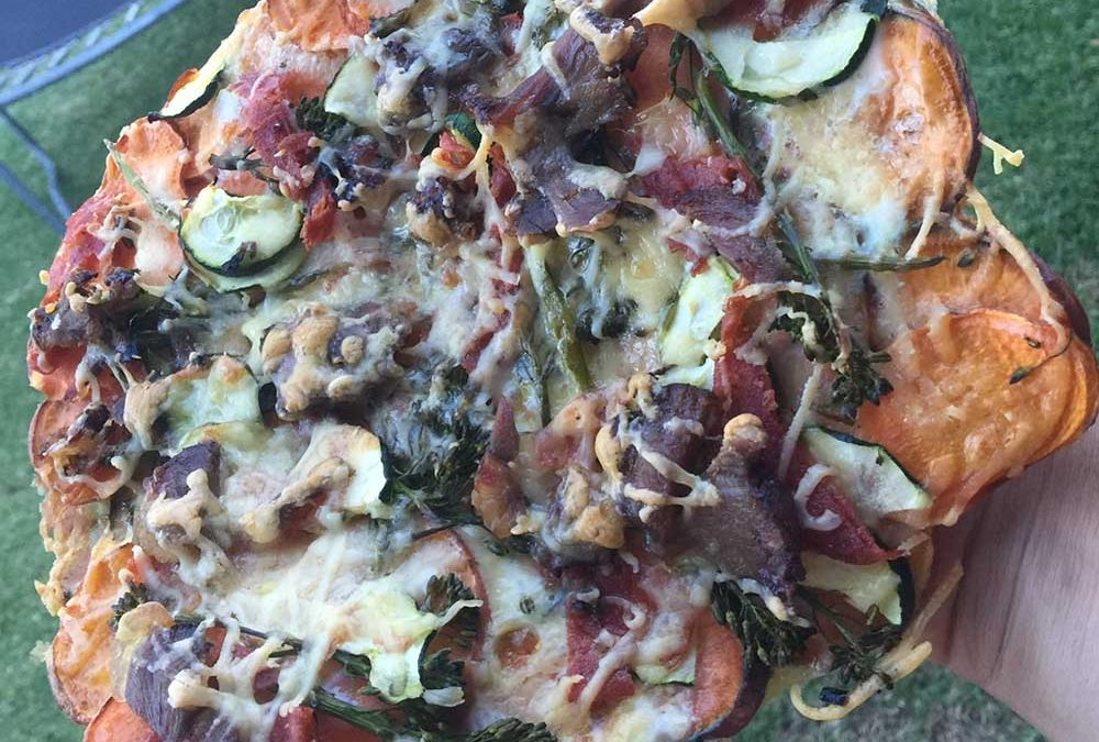 Crispy Sweet Potato Pizza